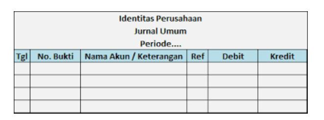 Cara Membuat Jurnal Umum Di Excel